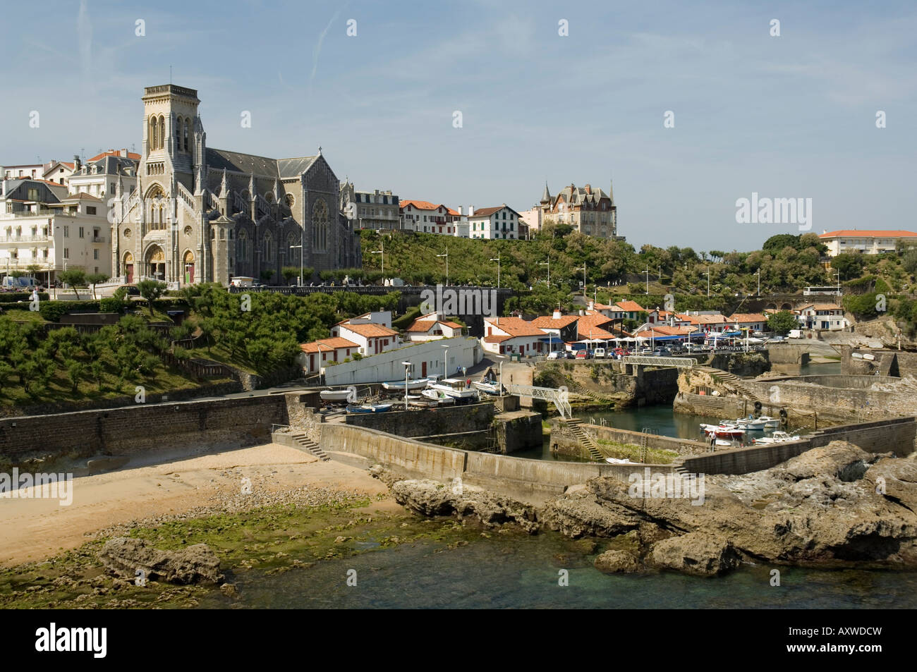 Fishing port, Biarritz, Basque country, Pyrenees-Atlantiques, Aquitaine, France, Europe Stock Photo