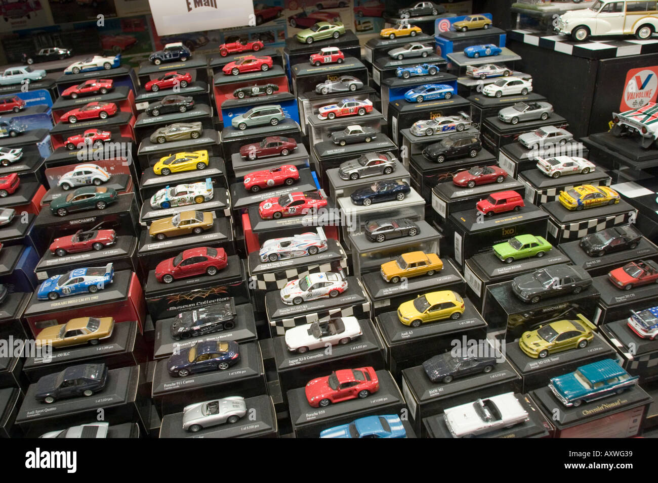 Die Cast Toy Cars In Window Display Of Toy Shop Stock Photo 5524536