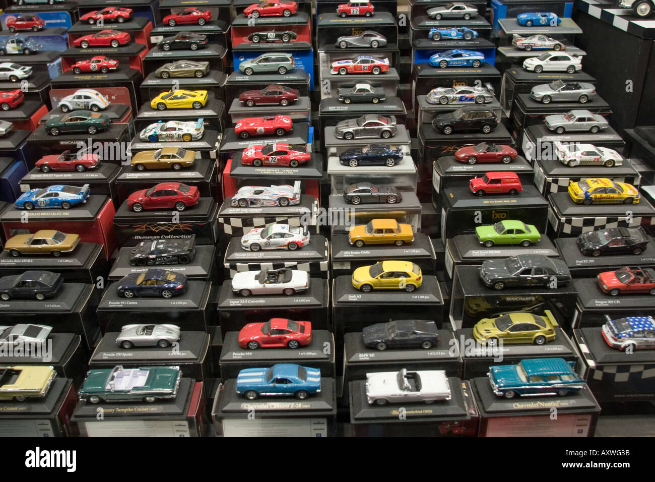 Die Cast Toy Cars In Window Display Of Toy Shop Stock Photo 5524538