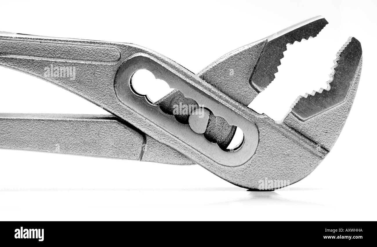 Gaspipe Pliers (Close View) - Stock Image