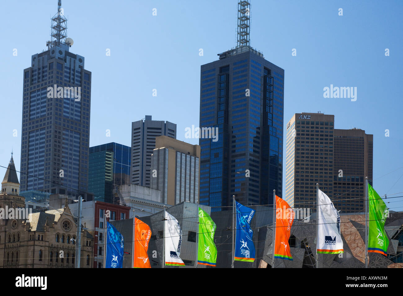 City centre, Melbourne, Victoria, Australia, Pacific - Stock Image