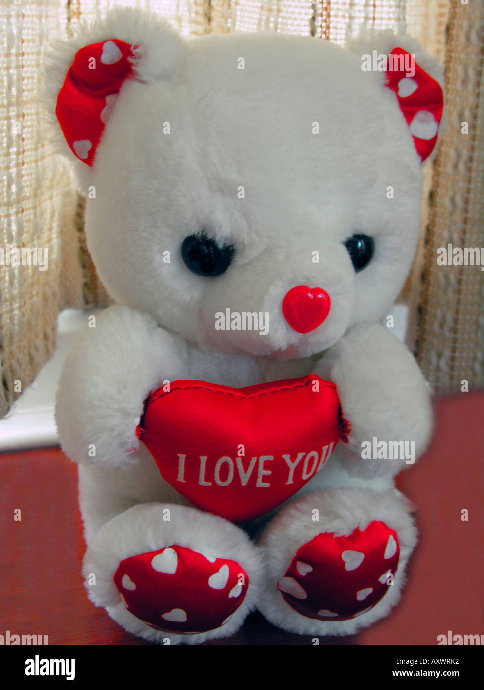 "teddy bear with heart saying "" i love you stock photo: 9672305 - alamy"