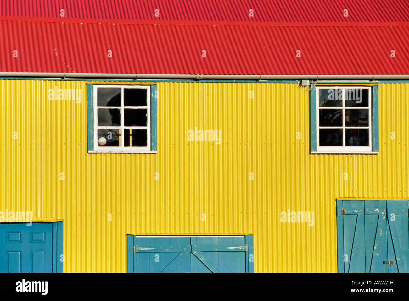 Colourful traditional house, Stanley, East Falkland, Falkland Islands, South Atlantic, South America - Stock Image