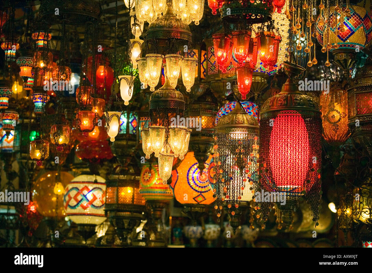 Istanbul marmara region turkey coloured glass lampshades on sale istanbul marmara region turkey coloured glass lampshades on sale in the grand bazaar kapali carsi aloadofball