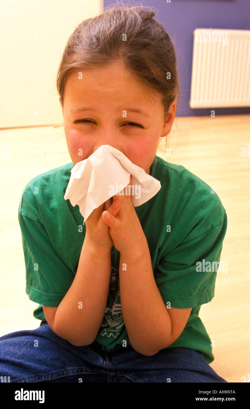 Girl with allergy - Stock Image