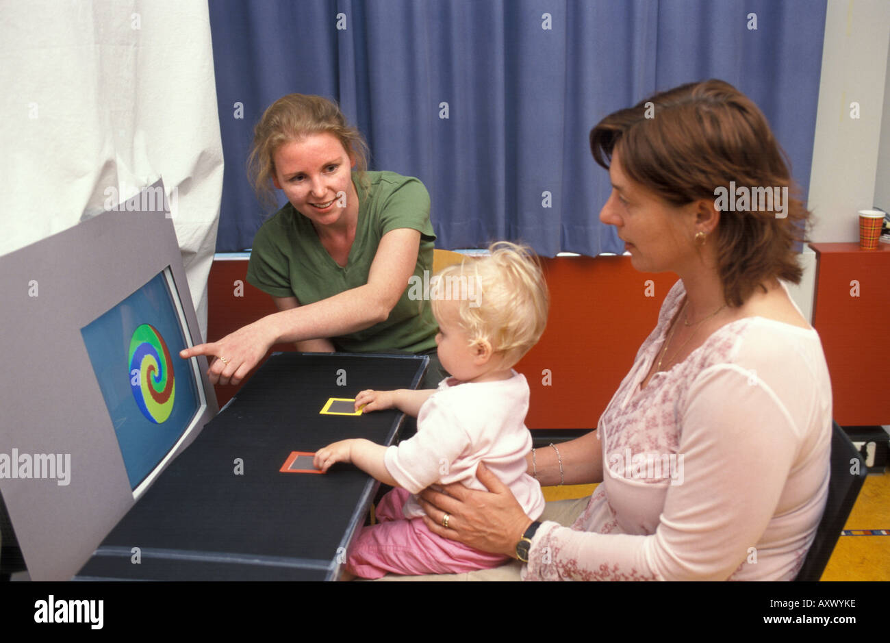 Child at a psychological test - Stock Image