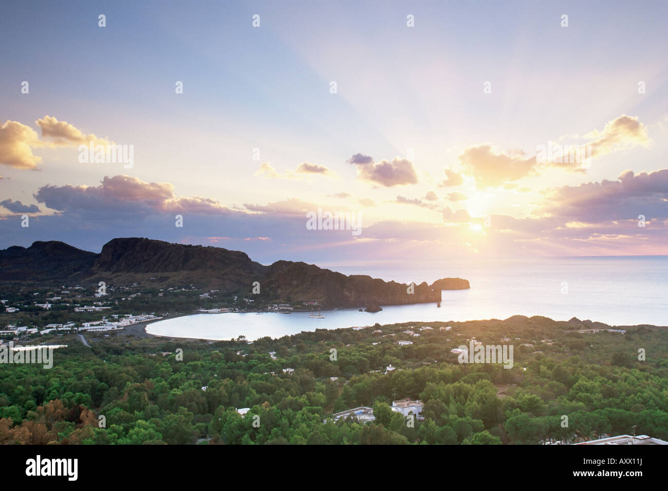 Vulcano Island, Eolie Islands (Aeolian Islands) (Lipari Islands), Italy, Europe - Stock Image