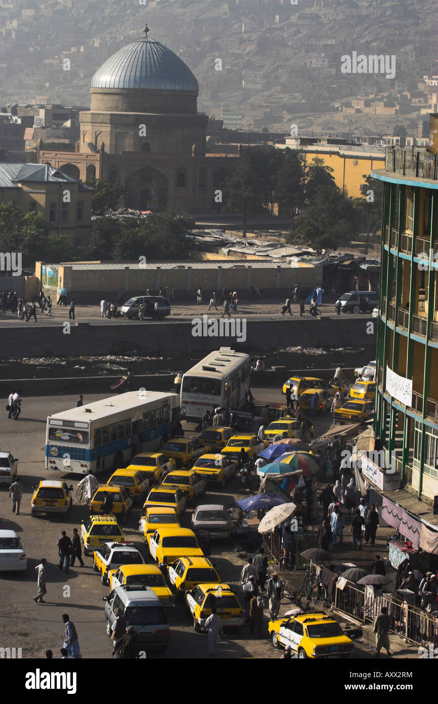 Early morning traffic, central area, Kabul, Afghanistan, Asia - Stock Image