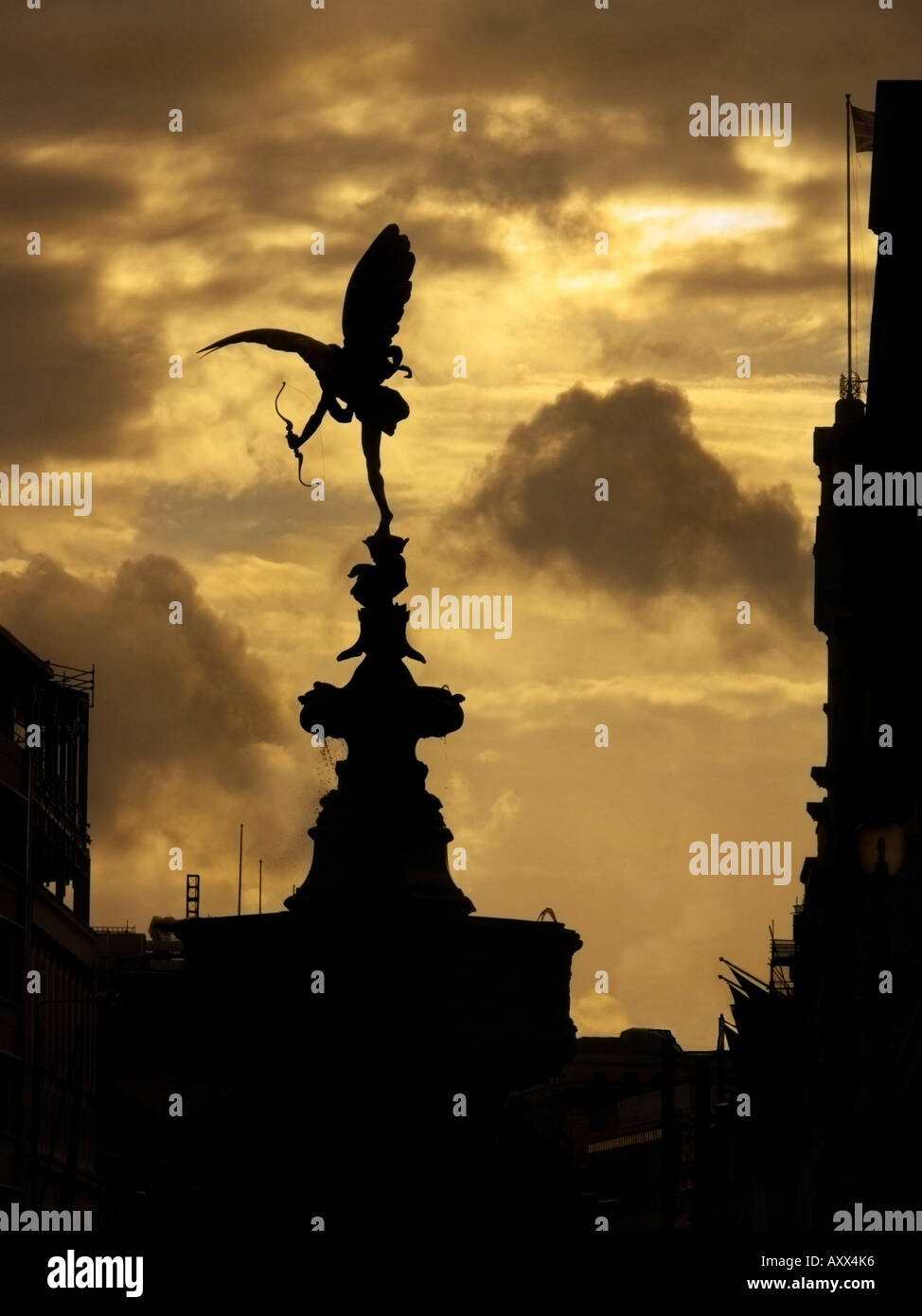 picadilly archer, eros - Stock Image