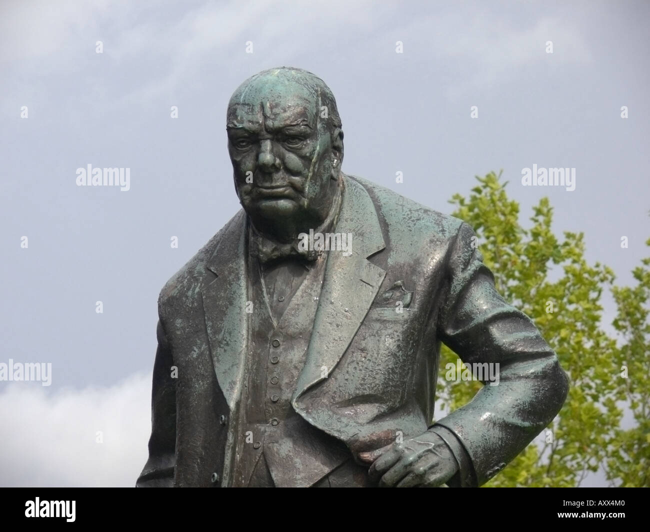 sir winston churchill - Stock Image