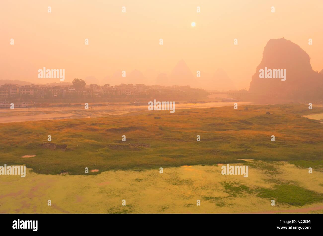 Li Jiang (Li River), Yangshuo, Guangxi Province, China, Asia Stock Photo