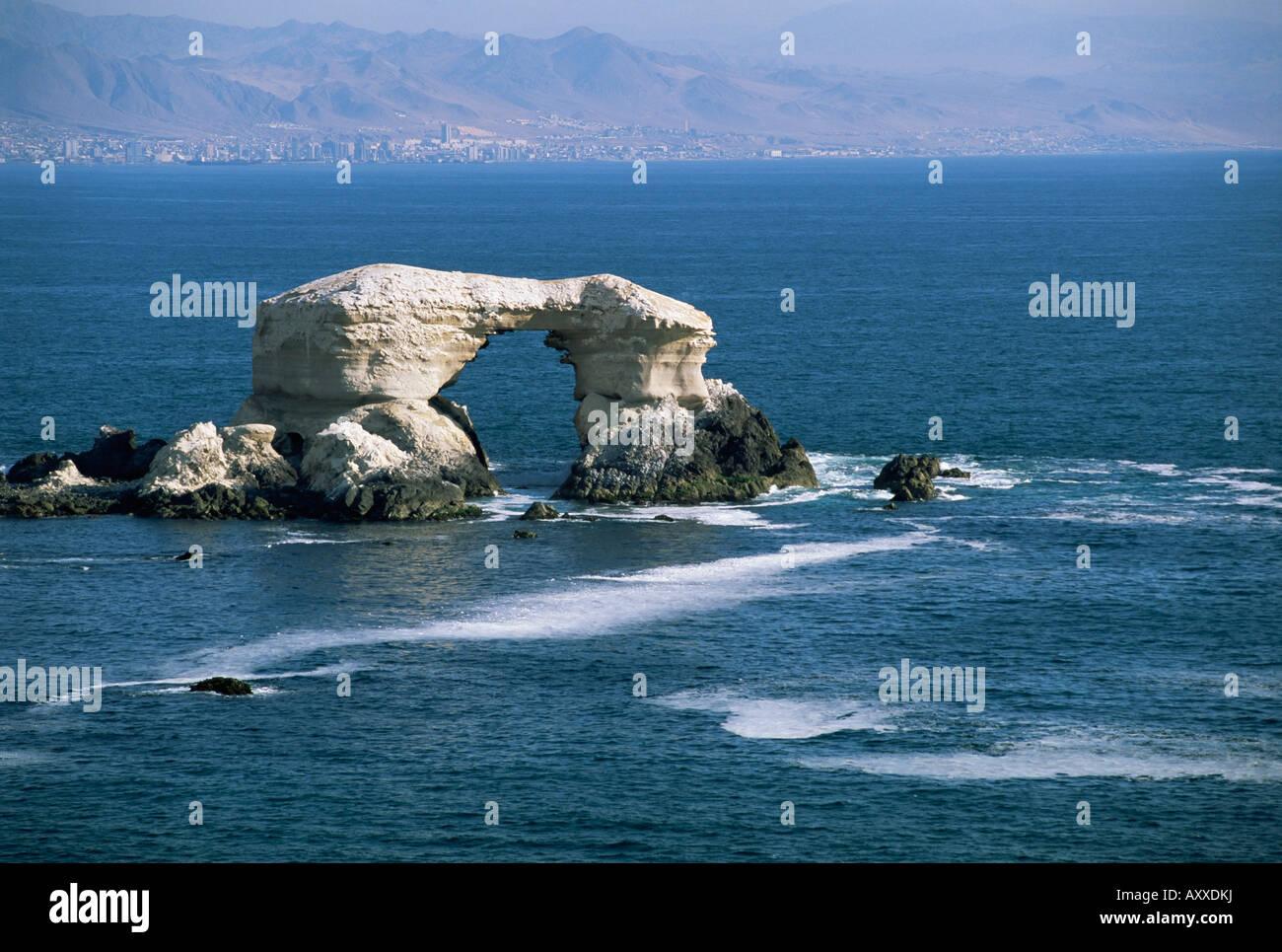 La Portada natural wonder, Antofogasta, Chile, South America - Stock Image