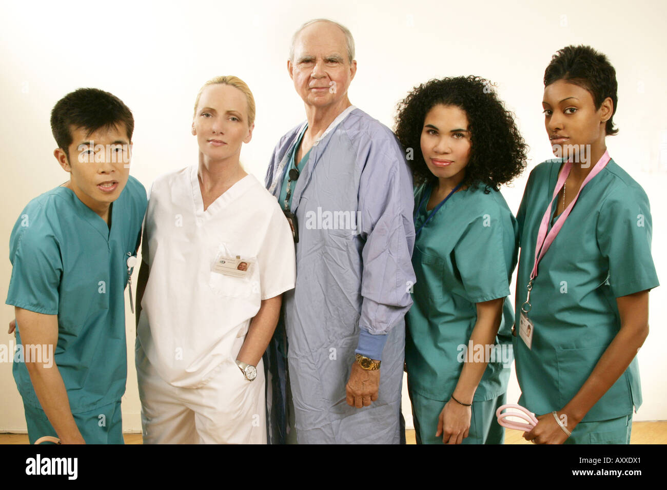 Grouping of medical personnel, - Stock Image
