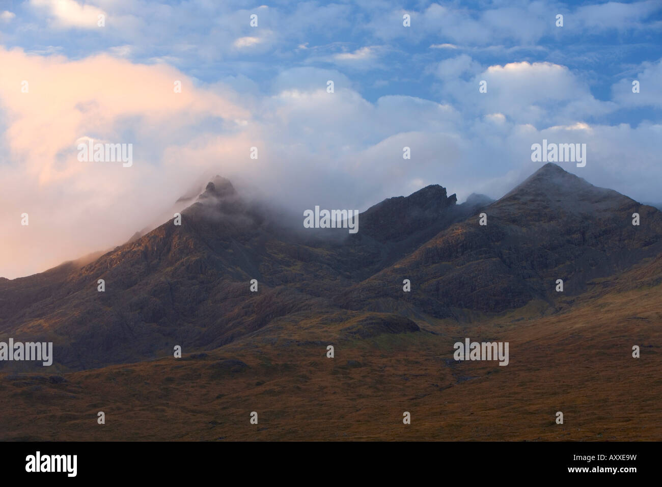 Cuillin Hills, Isle of Skye, Inner Hebrides, west coast, Scotland, United Kingdom, Europe - Stock Image