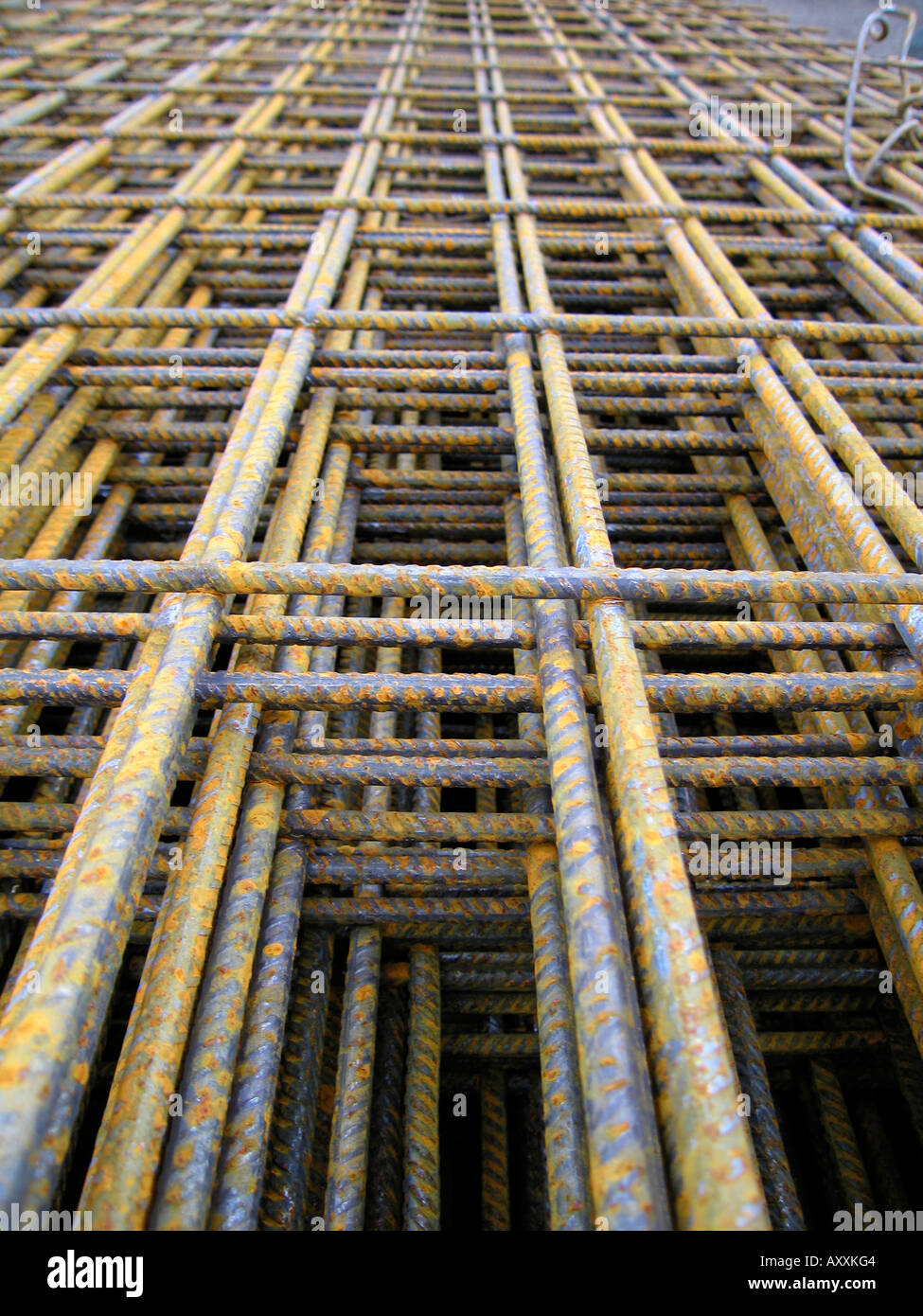 Steel reinforcement mesh - Stock Image