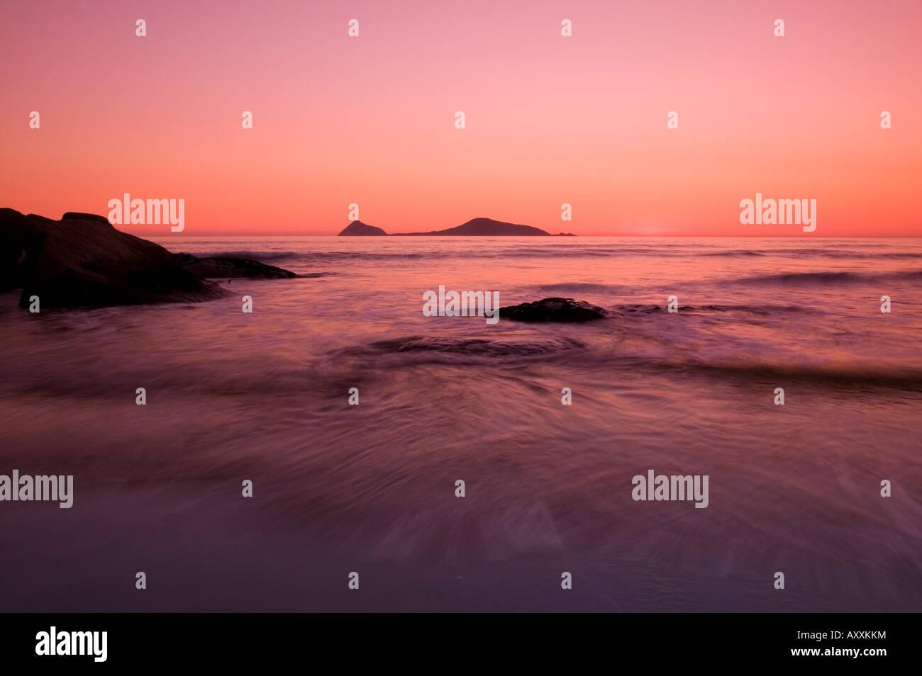 Sunset at Whiskey Beach, Wilsons Promontory, Victoria, Australia, - Stock Image