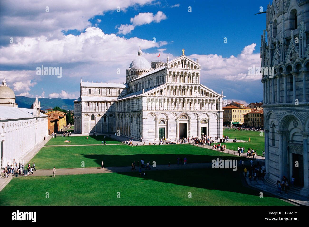 The Duomo (cathedral), Piazza del Duomo, UNESCO World Heritage Site, Pisa, Tuscany, Italy, Europe - Stock Image
