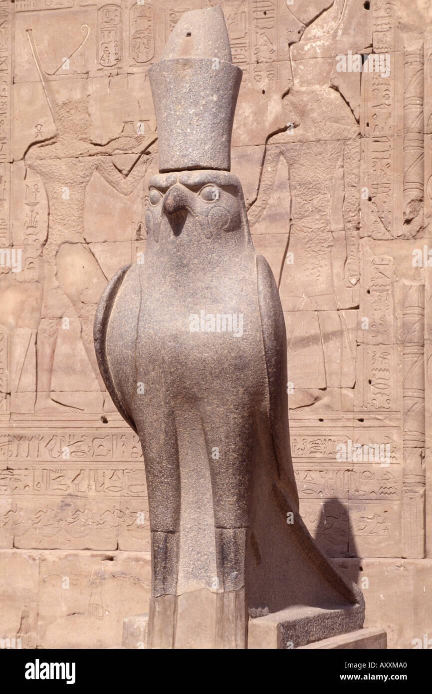 Edfu, Tempel, Horus - Stock Image