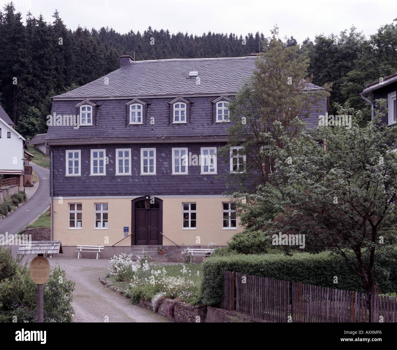 Stützerbach, Goethehaus, Totale - Stock Image