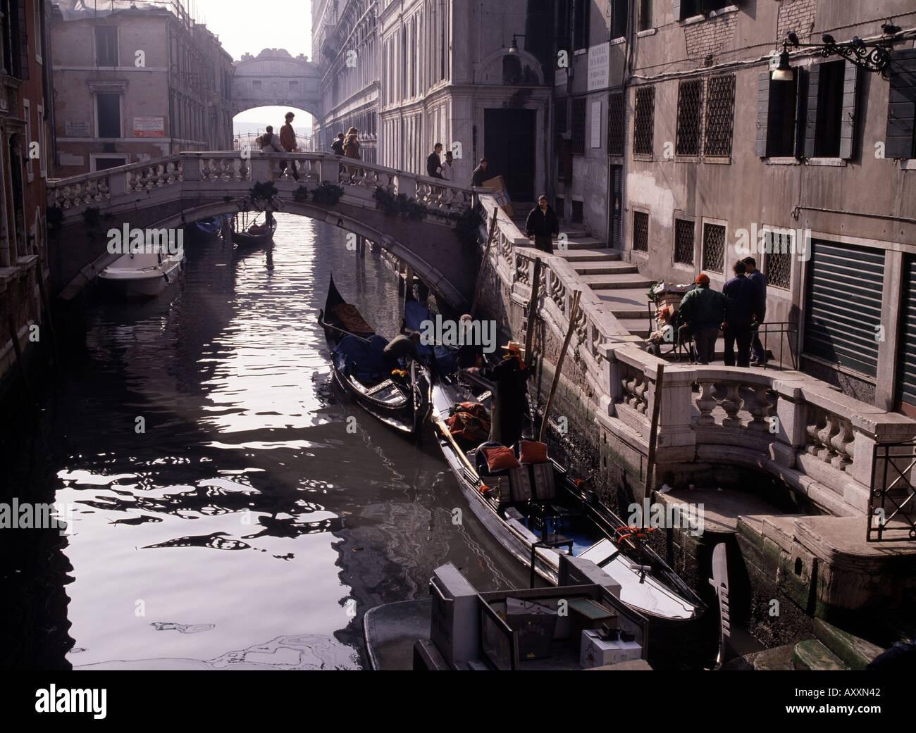 Venedig, Seufzerbrücke, Kanal - Stock Image