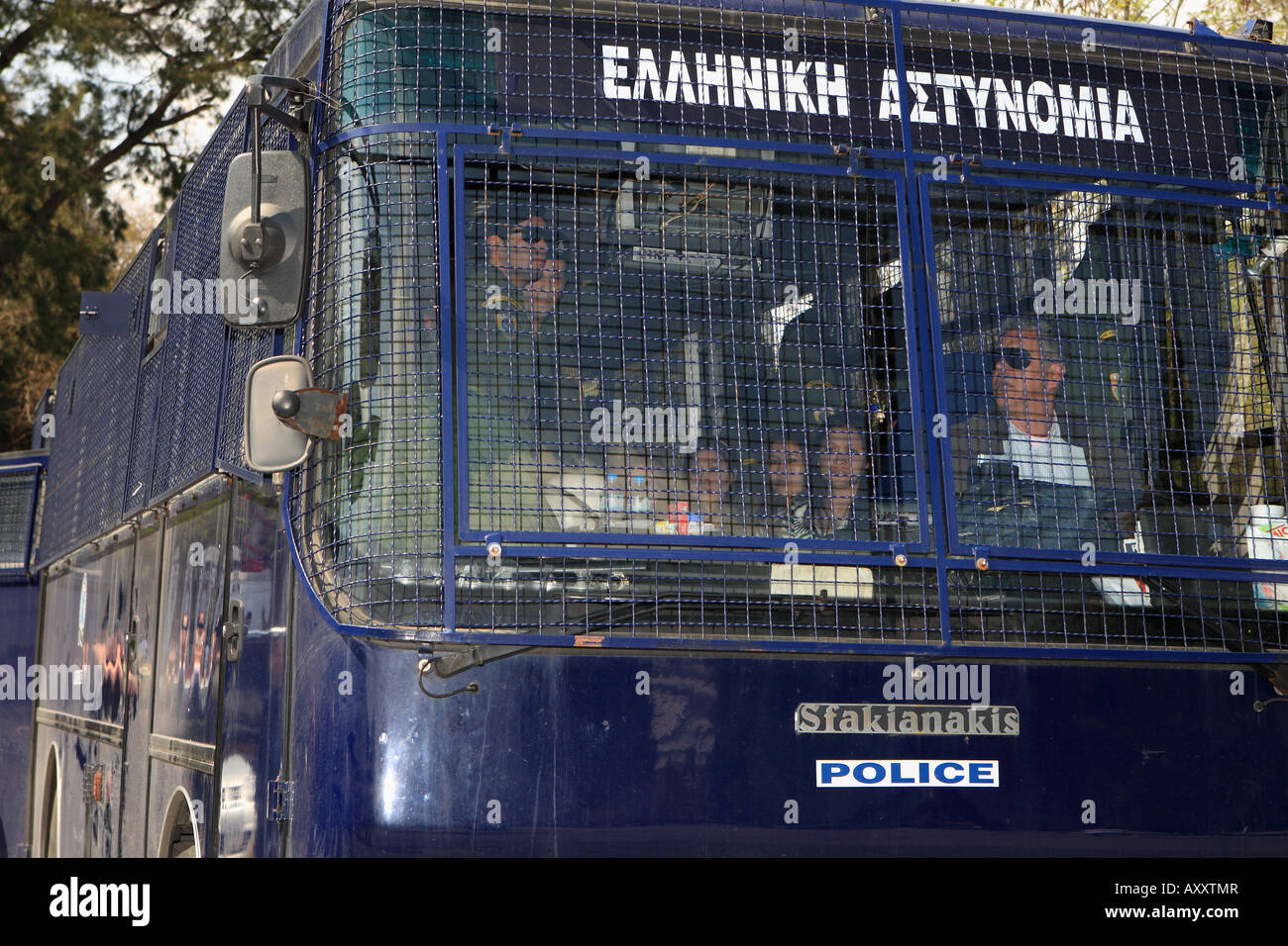 Pro-Tibetans arrested from greek police - Stock Image