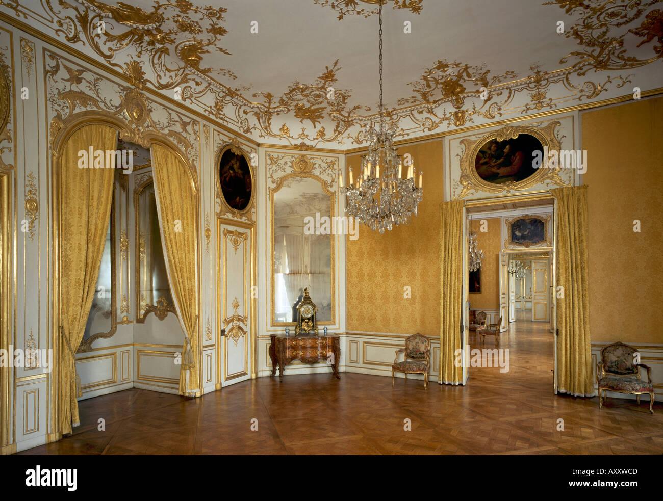 Brühl, Schloß Augustusburg, Gelbes Appartement, Schlafzimmer Stock ...
