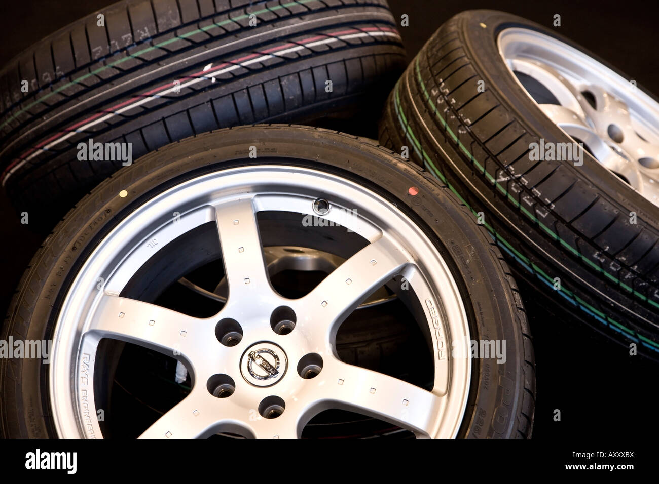 Tyres and rims - Stock Image