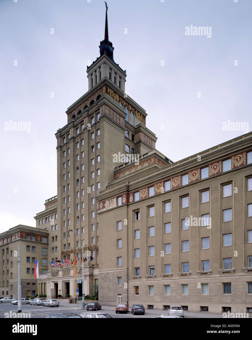 Prag/Dejvice, Hotel International, Straße Podbabska, Franticek Jerabek, 1954-1958 Stock Photo