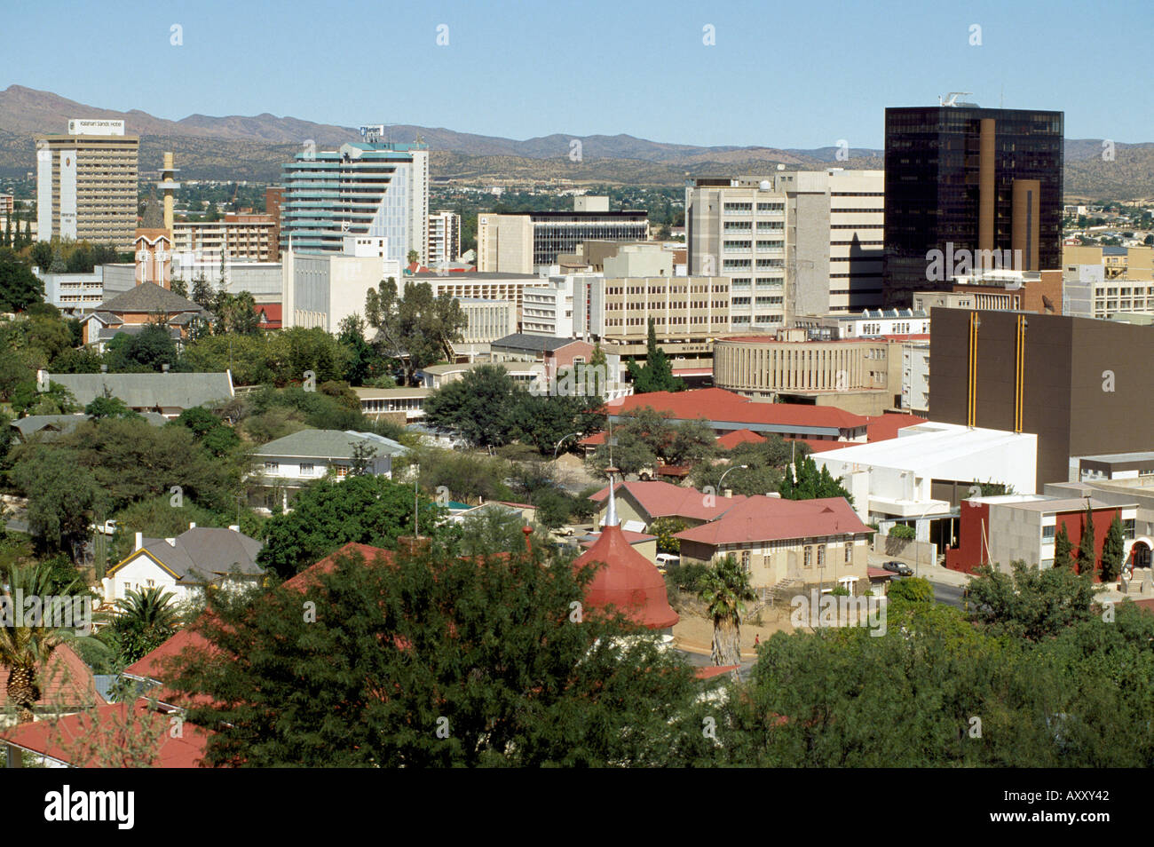 Windhoek, Stadtansicht, Totale - Stock Image