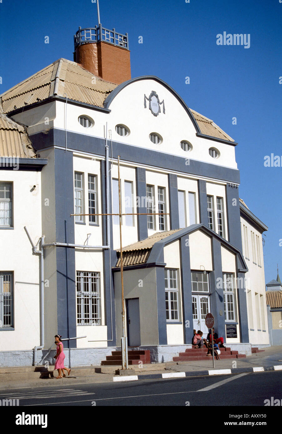 Lüderitz, Bahnhof, Totale Stock Photo