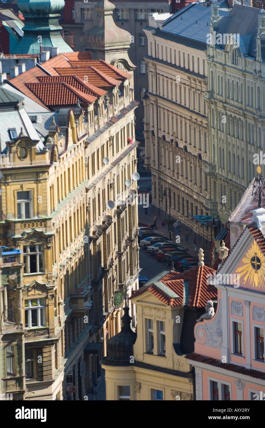 Streets of Prague, Czechoslovakian Republic - Stock Image