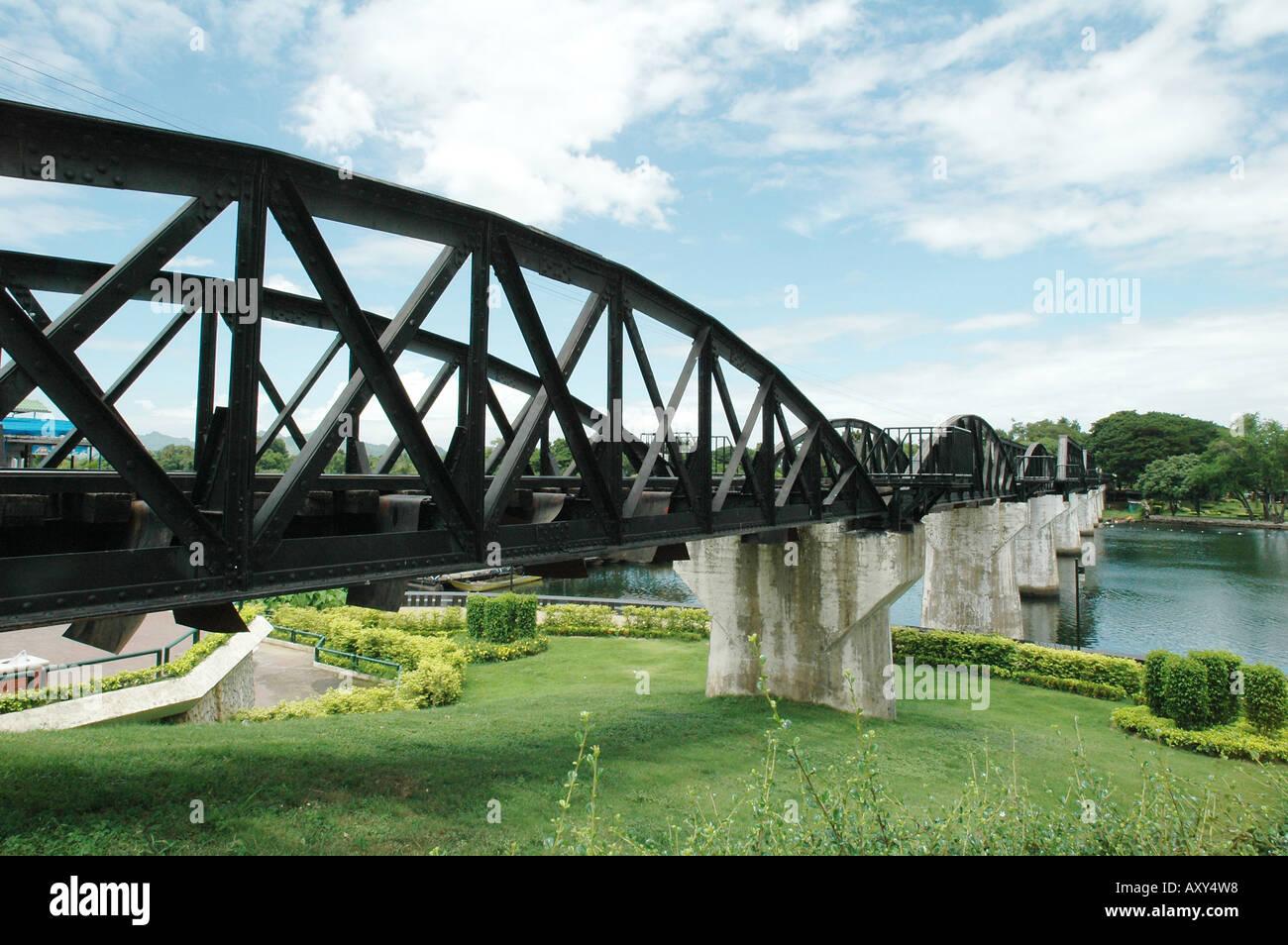 Bridge over the River Kwai, Kanchanaburi, Thailand. - Stock Image