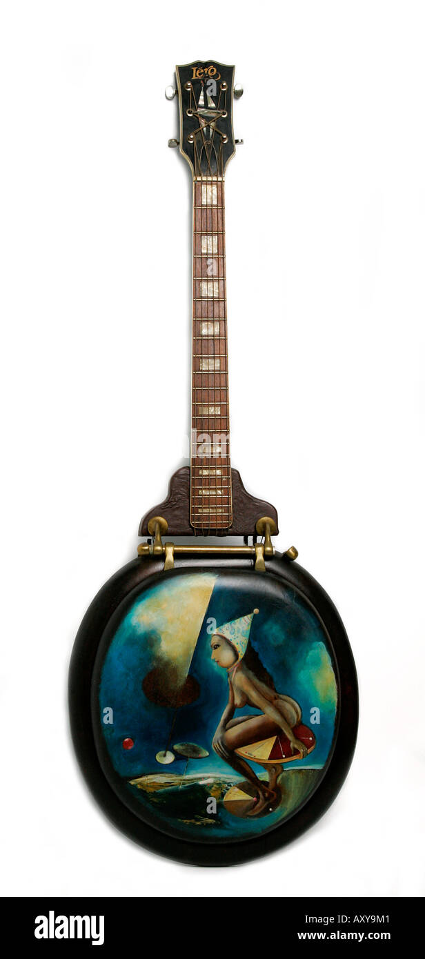 Remarkable Toilet Seat Decorated Souvenir Guitar Musical Instrument Machost Co Dining Chair Design Ideas Machostcouk