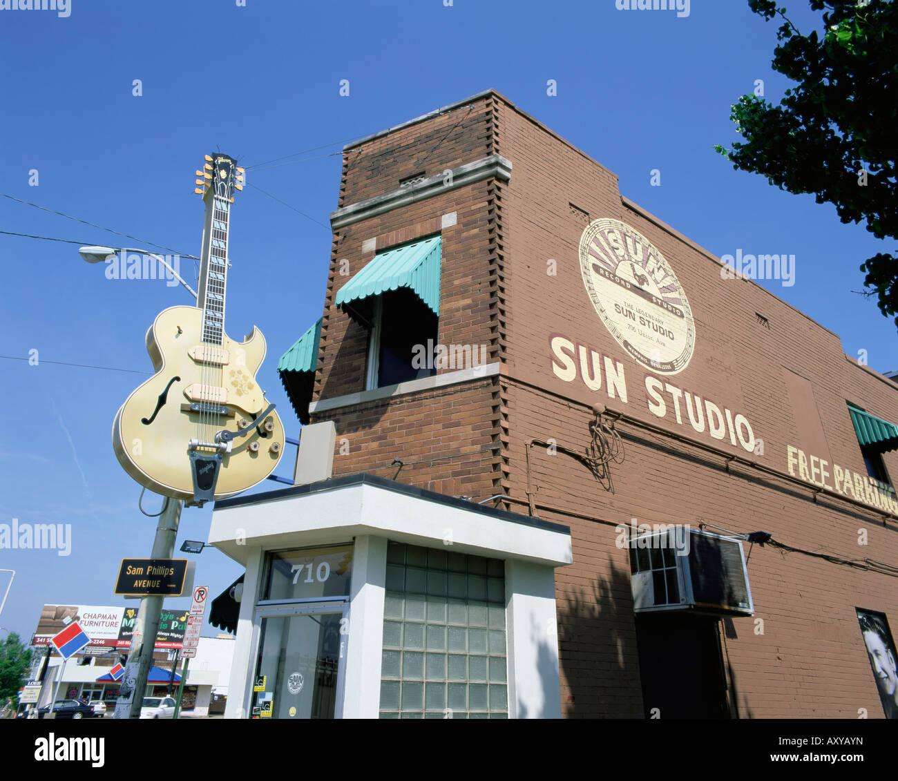 Sun Studios, Memphis, Tennessee, United States of America, North America - Stock Image