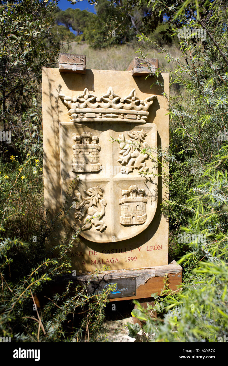 Castilla y Leon shield badge - Stock Image