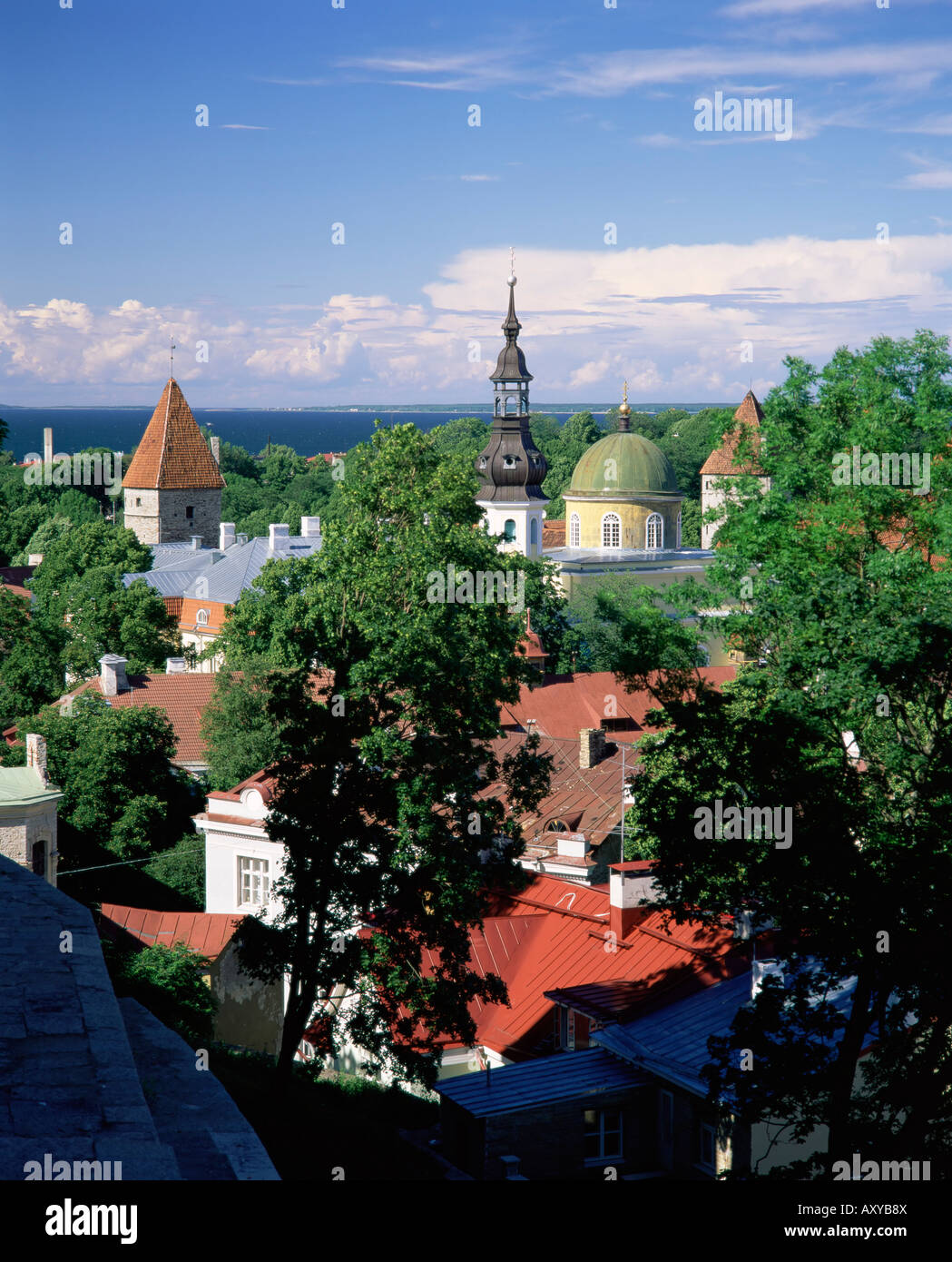 City view from Toompea, Tallinn, Estonia, Baltic States, Europe - Stock Image