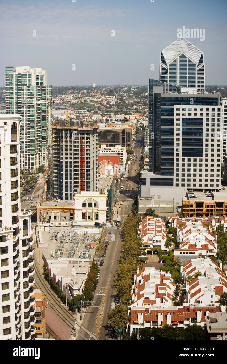 Kettner Boulevard, San Diego, California, United States of America, North America - Stock Image