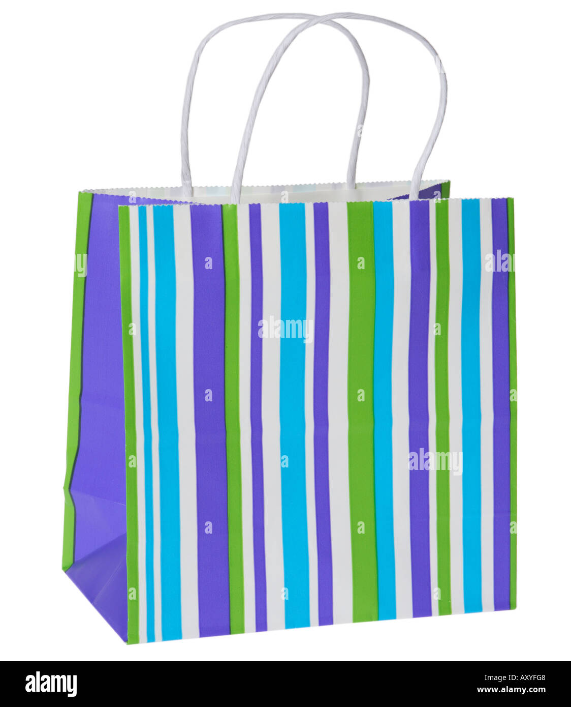 Gift Bag with Stripes - Stock Image