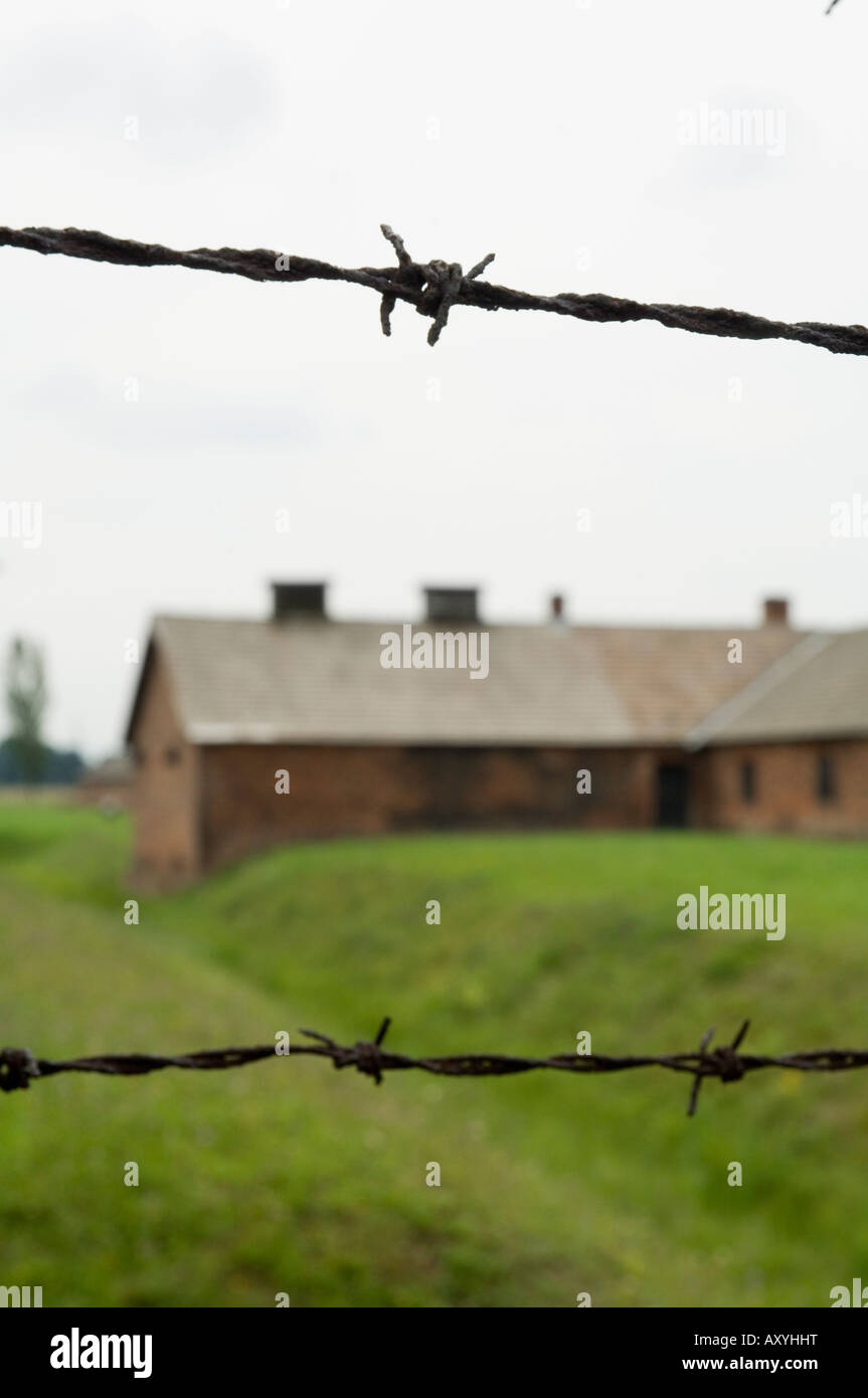 Auschwitz second concentration camp at Birkenau, UNESCO World Heritage Site, near Krakow (Cracow), Poland, Europe - Stock Image