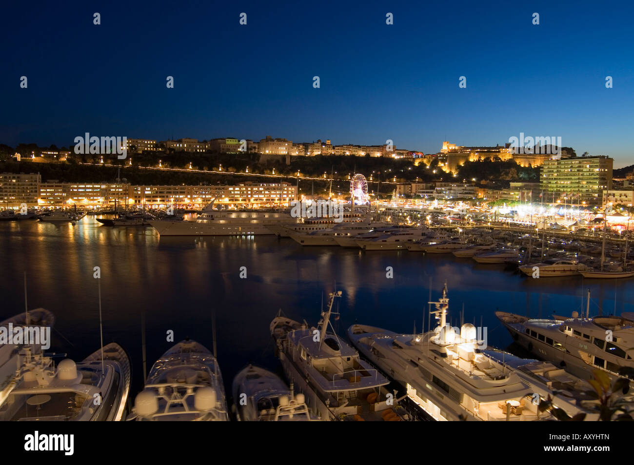 Monte Carlo, Principality of Monaco, Cote d'Azur, Mediterranean, Europe - Stock Image