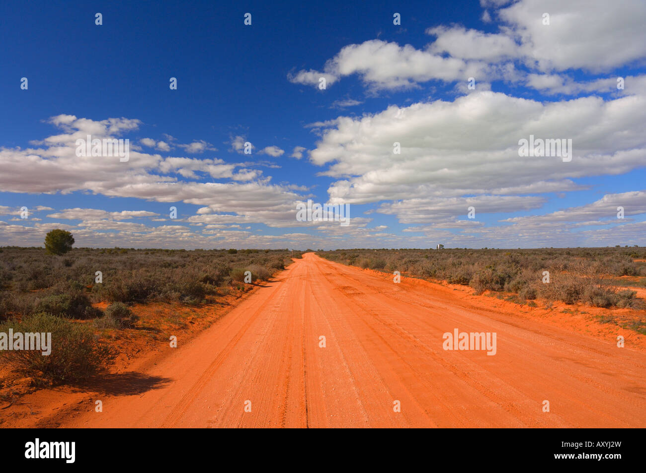Outback road, Menindee, New South Wales, Australia, Pacific - Stock Image