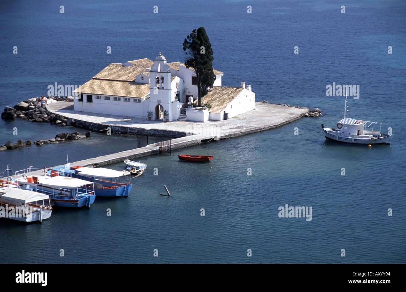 Korfu, Insel, Kloster Vlacherna, Übersicht - Stock Image