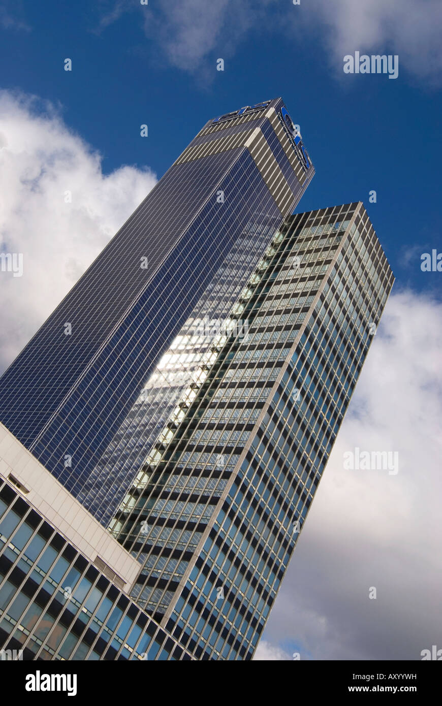 The CIS building in Manchester, the third tallest building in Europe at the time of its construction. Covered in - Stock Image