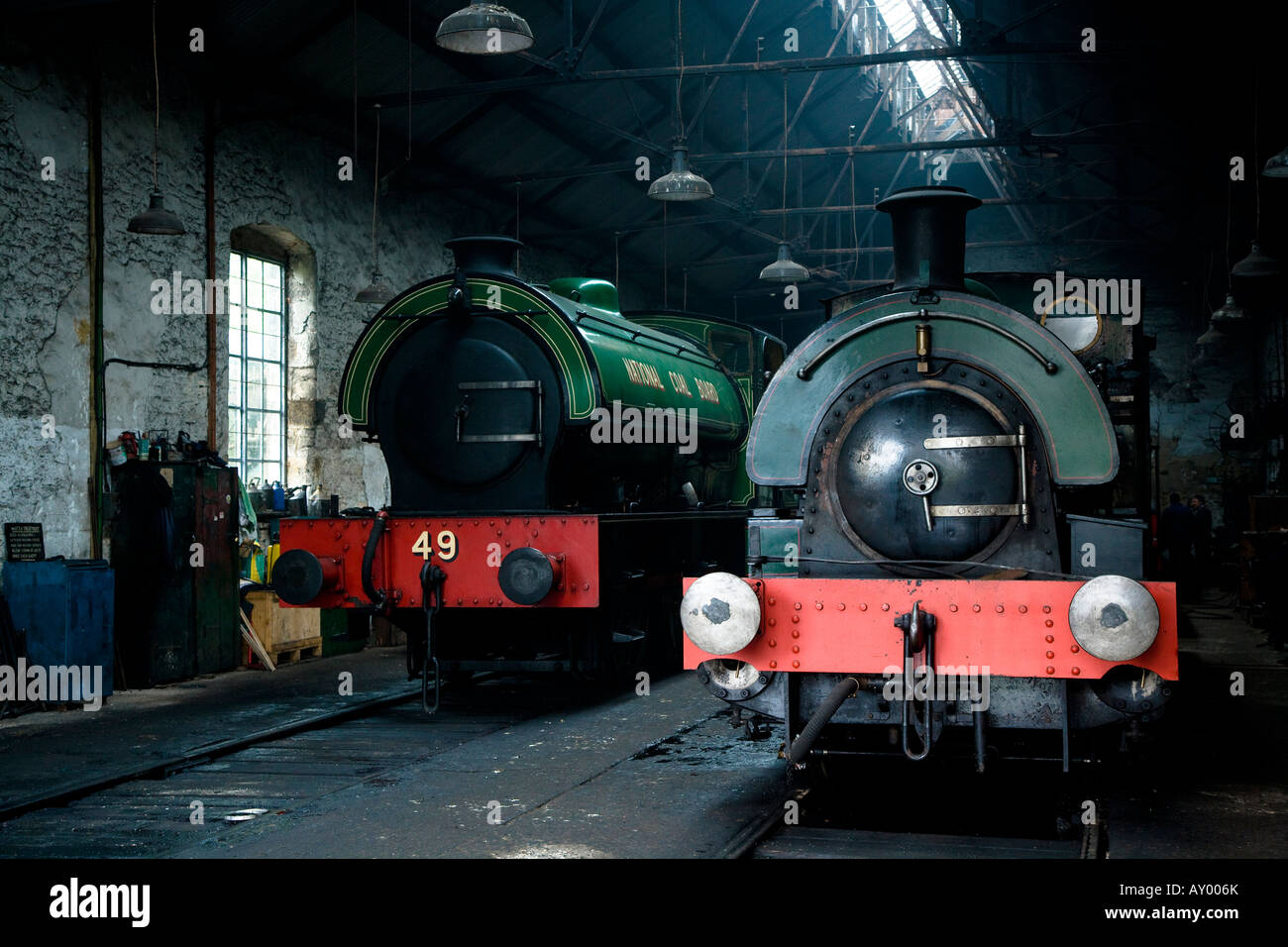 The Engine Shed Tanfield Preserved Coal Board Railway County Durham North East England - Stock Image