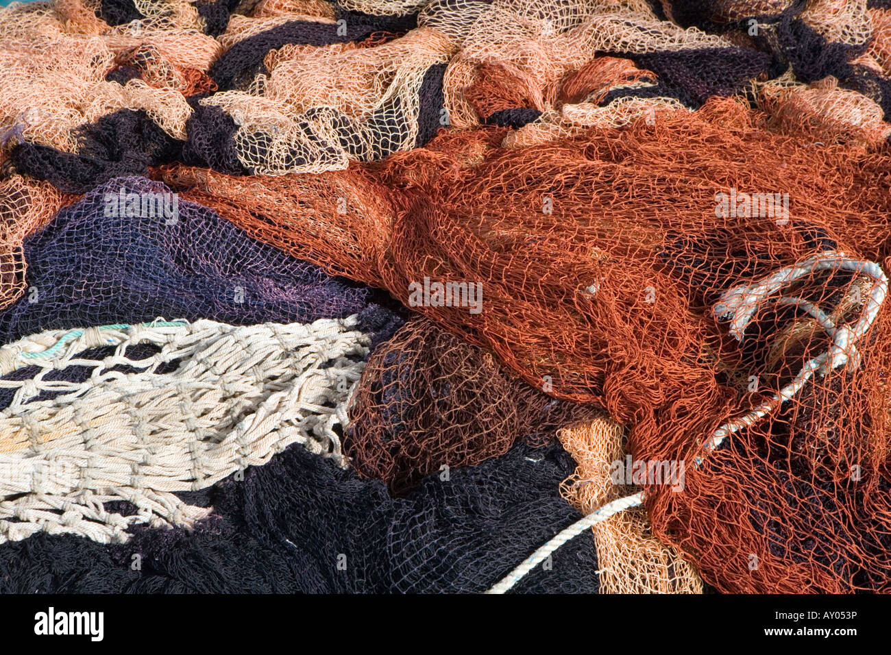 Fish Nets Empty Unusual Colours Colors Reds Stock Photos & Fish Nets ...