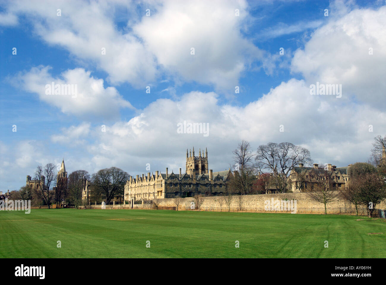 Oxford, England. Merton College with Corpus Christi College and Christ Church College in the background - Stock Image