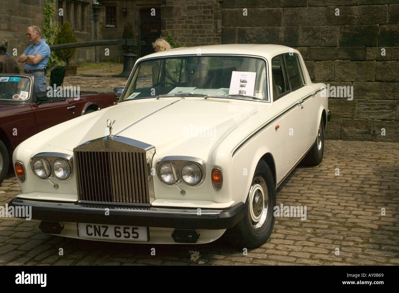 Classic White Rolls Royce Car Stock Photo Alamy