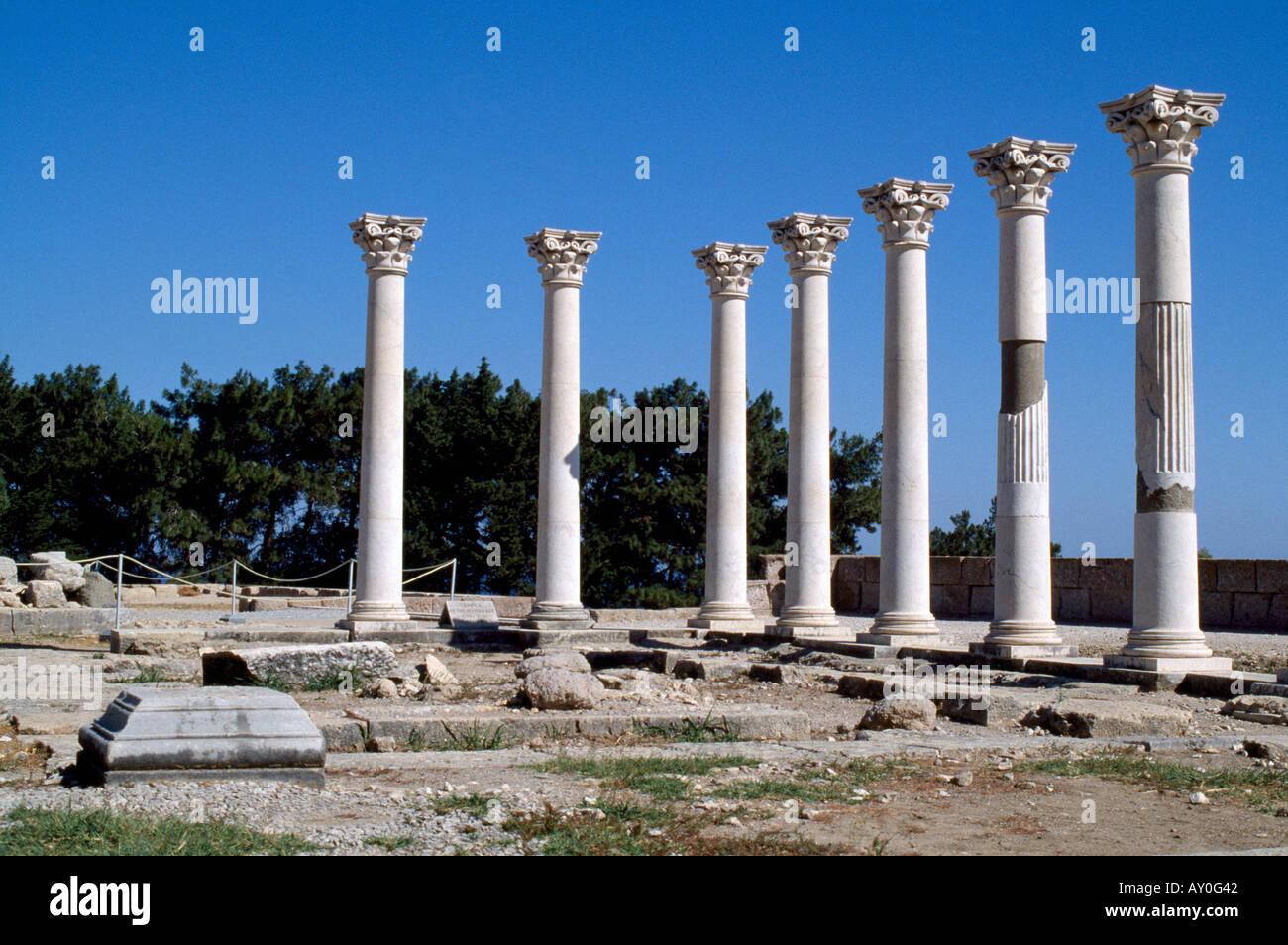 Kos Stadt, Apollontempel, Heiligtum, rekonstruiert - Stock Image