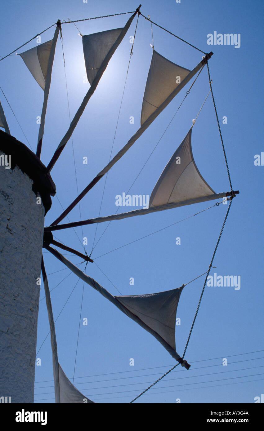 Kos Stadt, Windmühle, Windrad - Stock Image