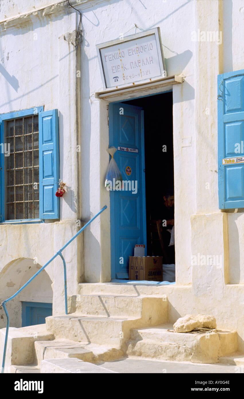 Kassos, Fri, Hausfassade, Eingang - Stock Image